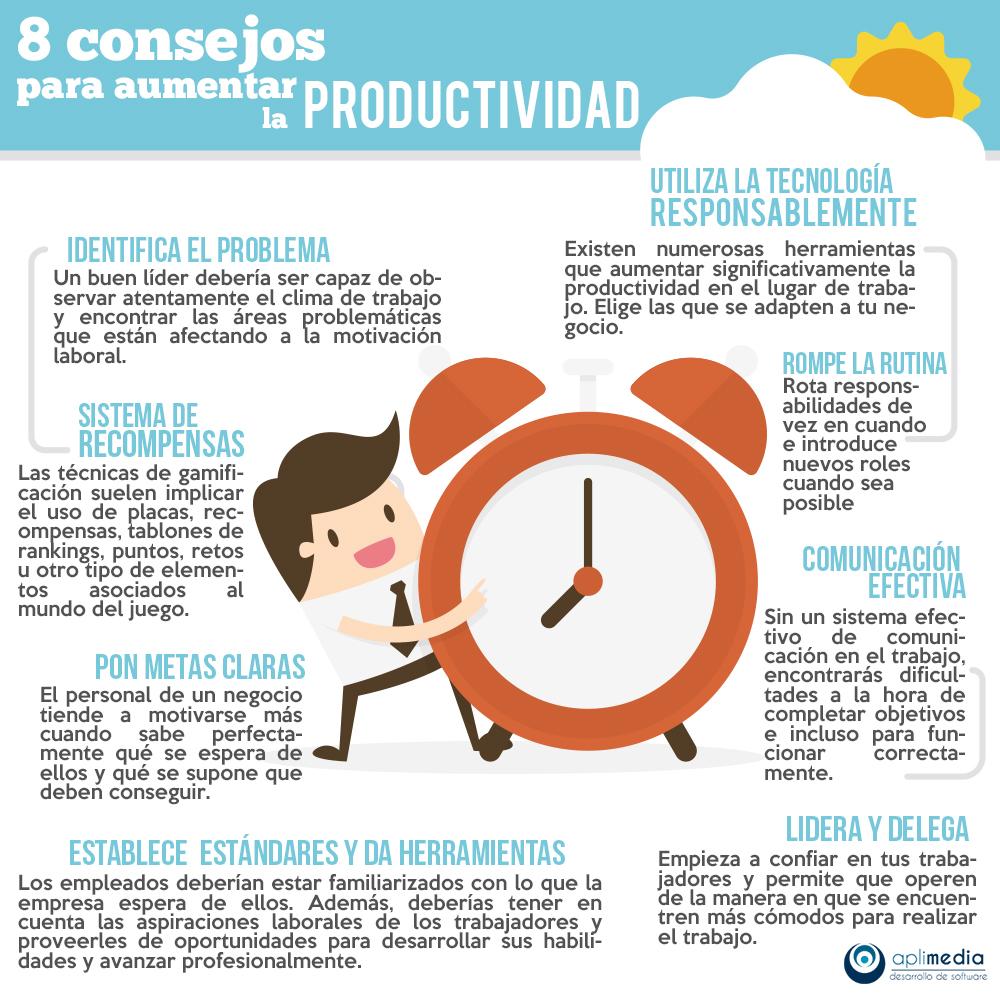 8 Consejos para aumentar la productividad