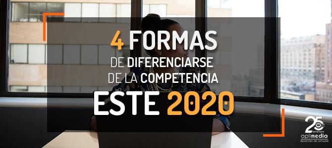 4 Estrategias para diferenciarse de la competencia este 2020